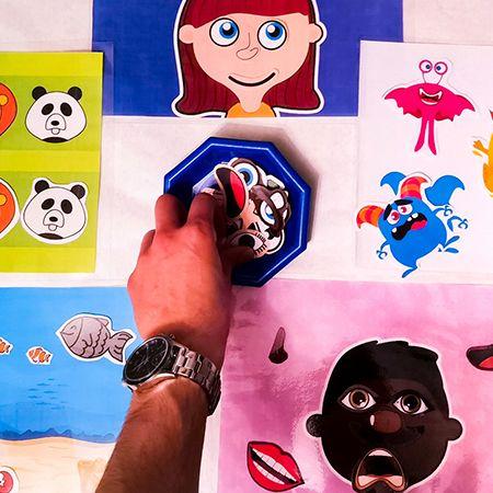 cuaderno manipulativo para trabajar emociones, conteo y razonamiento lógico con juegos
