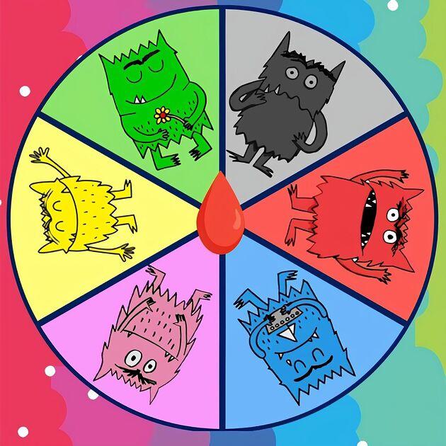 La ruleta de las emociones con el monstruo de colores